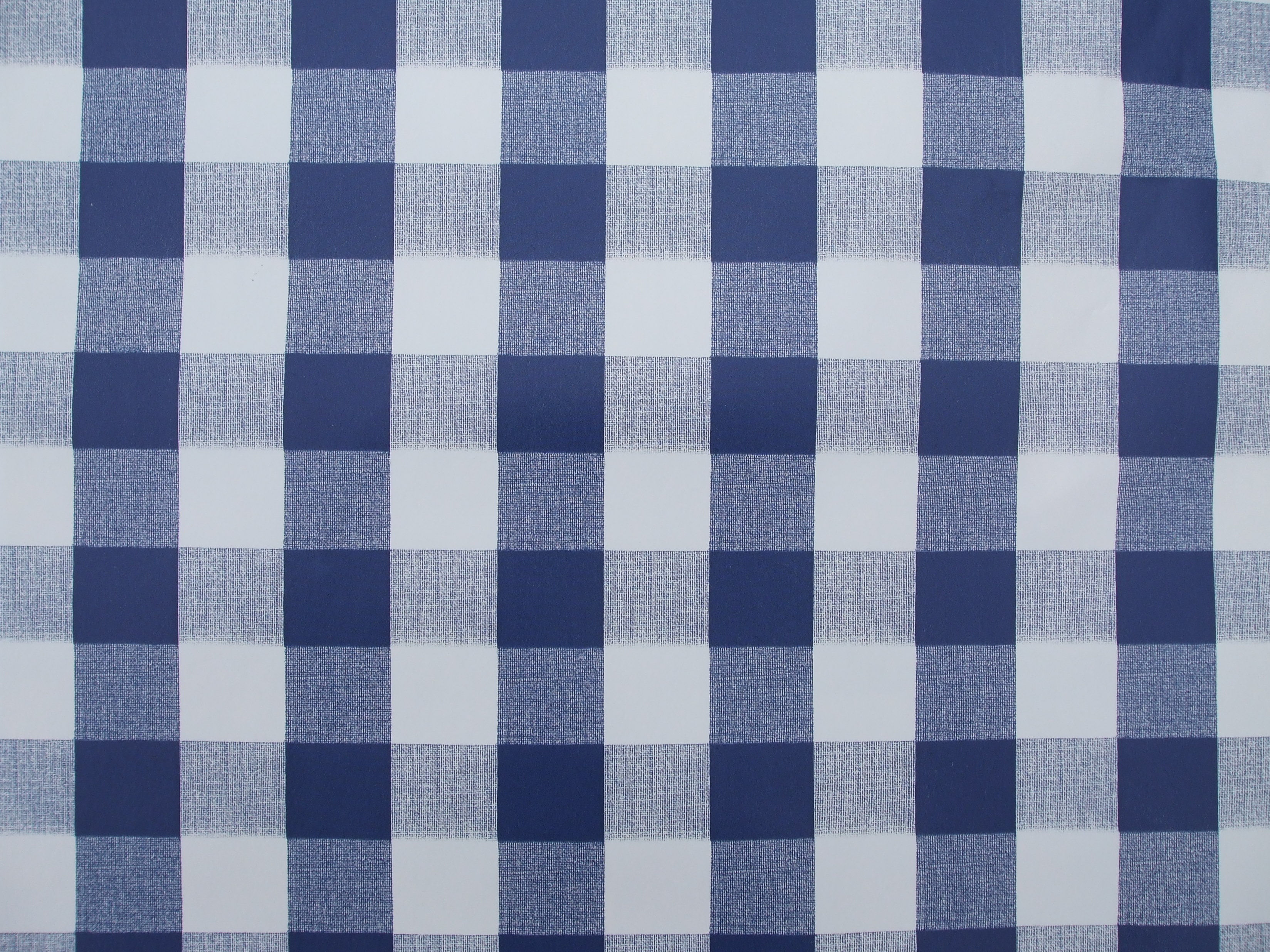 Superieur Square Wipe Clean Tablecloth Blue Gingham The Company