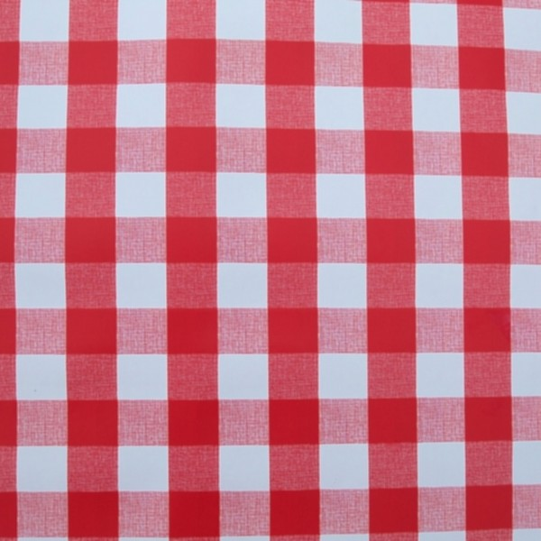 round wipe clean tablecloth with parasol hole - red gingham   the