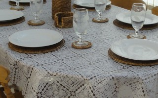 Oval Wipe Clean Tablecloth U2013 White Lace