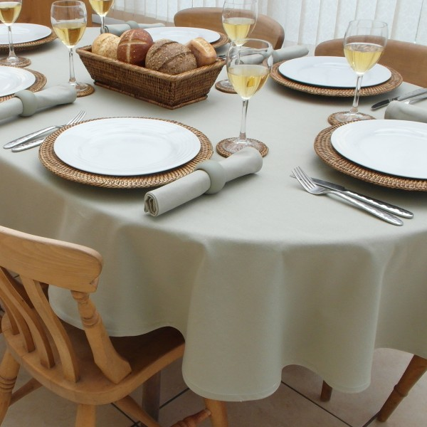 oval tablecloth cotton