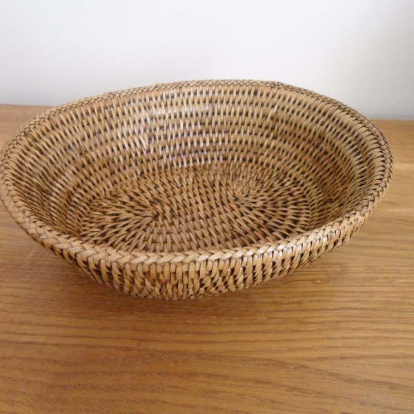 Rattan Bowl Oval The Tablecloth Company