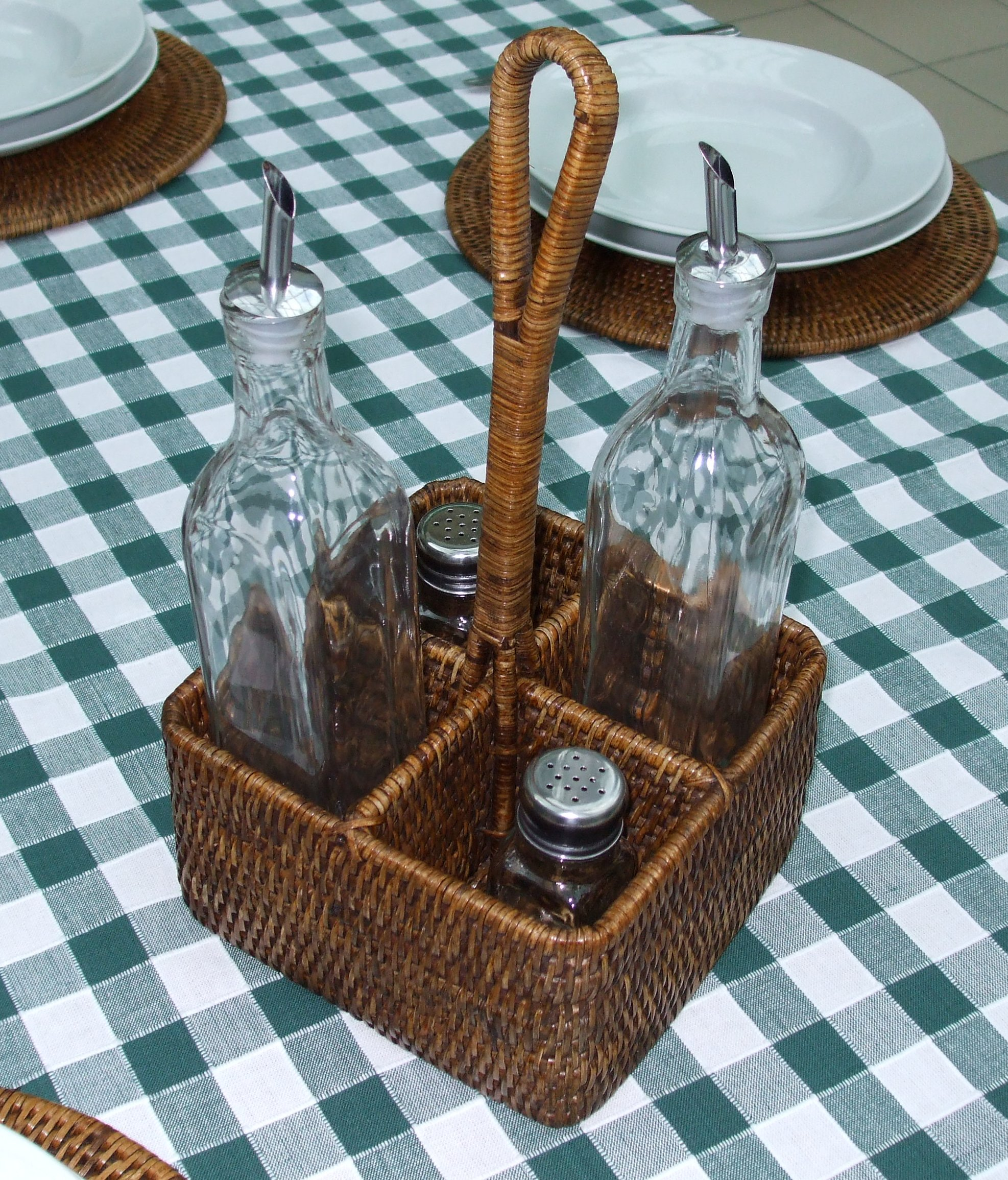 Rattan Condiment Holder The Tablecloth Company - Condiment holder for table