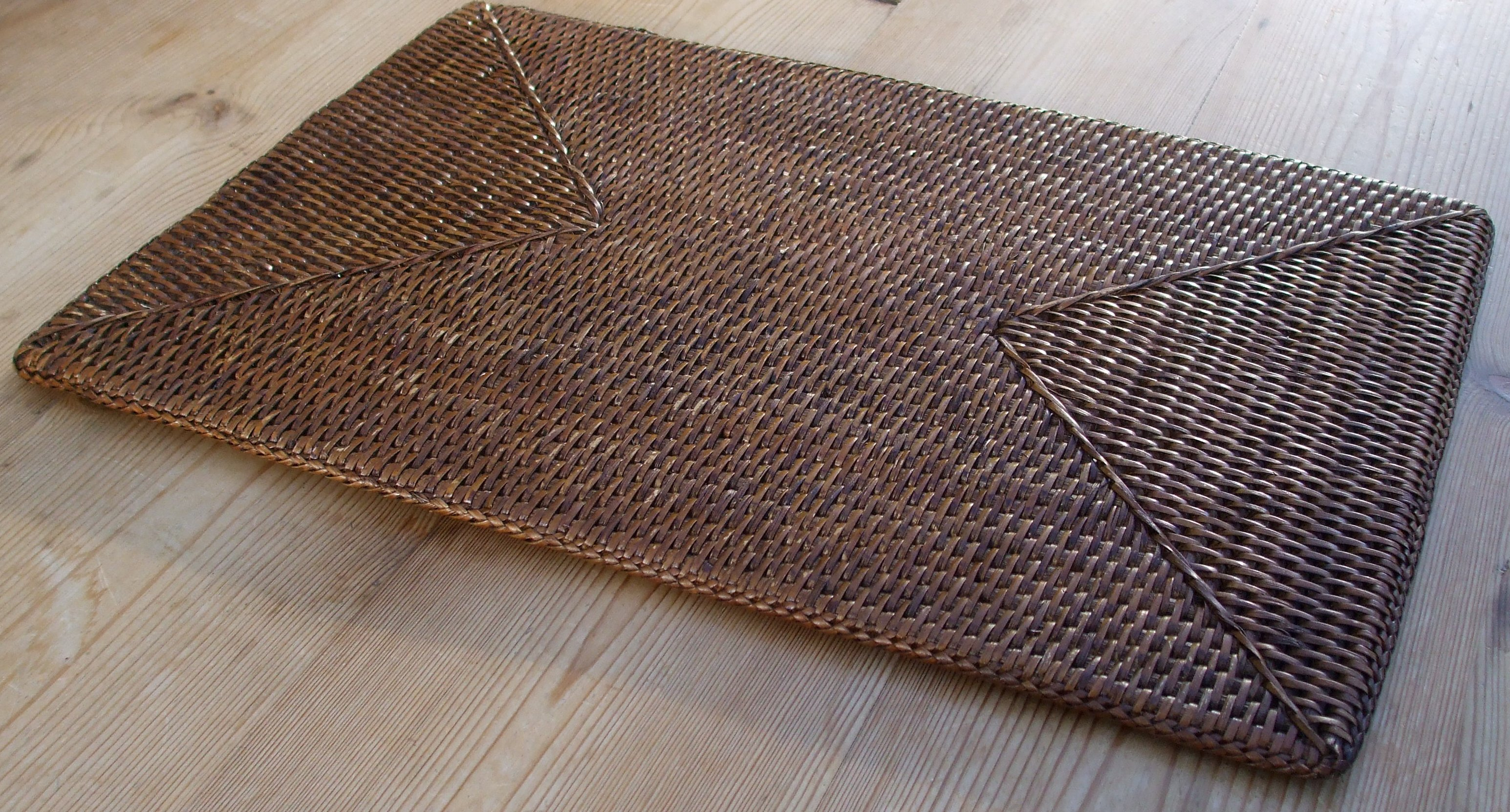 Rattan Placemat Rectangle The Tablecloth Company