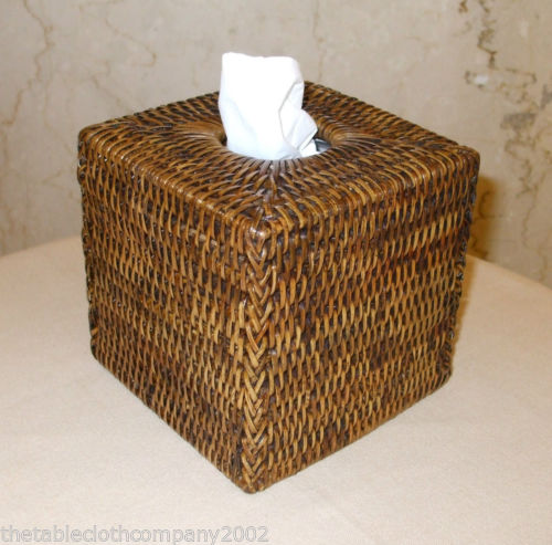 Rattan Tissue Box Cover The Tablecloth Company