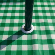 GREEN GINGHAM WITH PARASOL HOLE