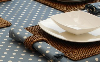 VINTAGE COLLECTION BLUE POLKA DOT