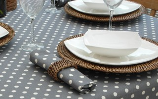 VINTAGE COLLECTION GREY POLKA DOT
