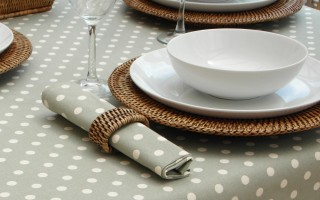 VINTAGE COLLECTION SAGE POLKA DOT