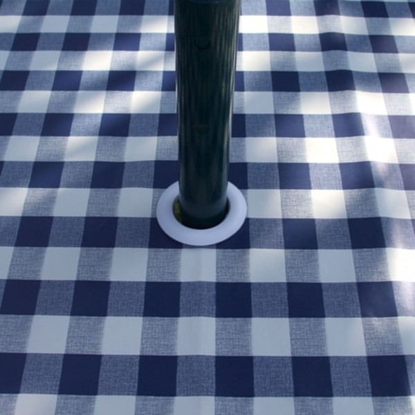 BLUE GINGHAM WITH PARASOL HOLE