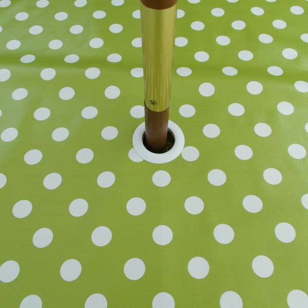 LIME POLKA DOT WITH PARASOL HOLE