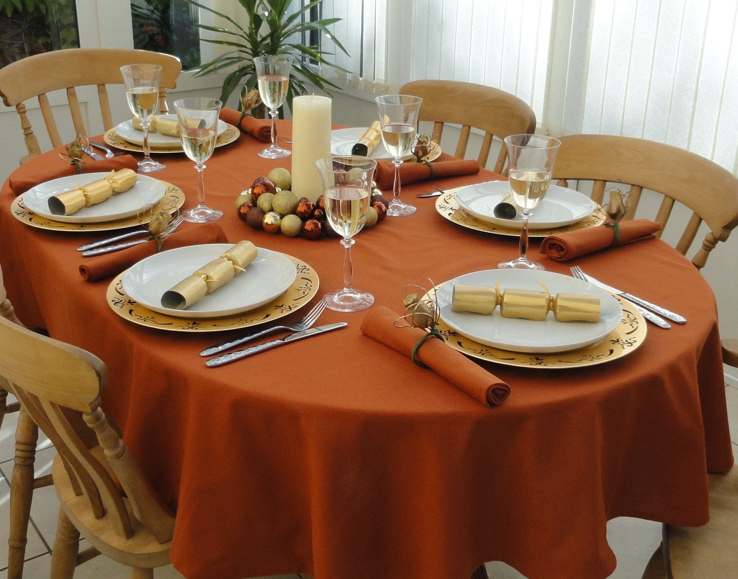 Cotton Collection Terracotta Oval The Tablecloth Company