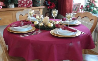 COTTON COLLECTION WINE TABLECLOTH