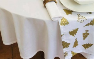 COTTON COLLECTION CREAM OVAL TABLECLOTH
