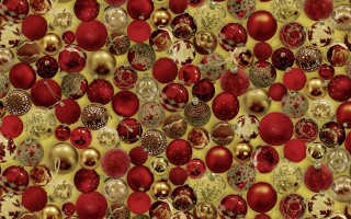 RED & GOLD BAUBLES