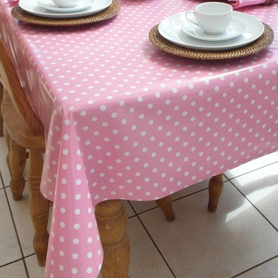 PVC COATED PINK POLKA DOT