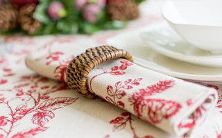 CHRISTMAS RED BERRY NAPKIN
