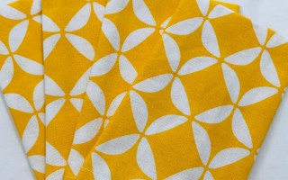 Geo Yellow Napkins