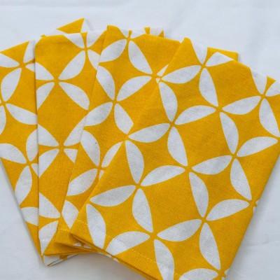 Geo Yellow Napkins