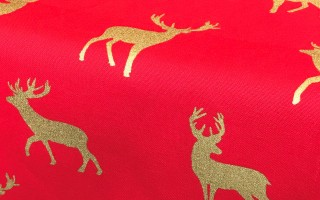 RED & GOLD STAG