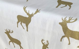 CREAM & GOLD STAG CLOSE