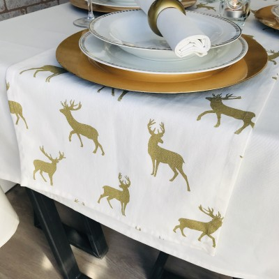 CREAM & GOLD STAGS