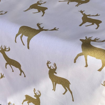 WHITE & GOLD STAG CLOSE